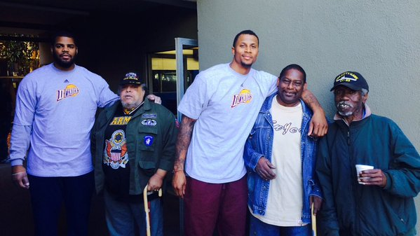 D-Fenders Visit US Vets Residential Facility in Inglewood