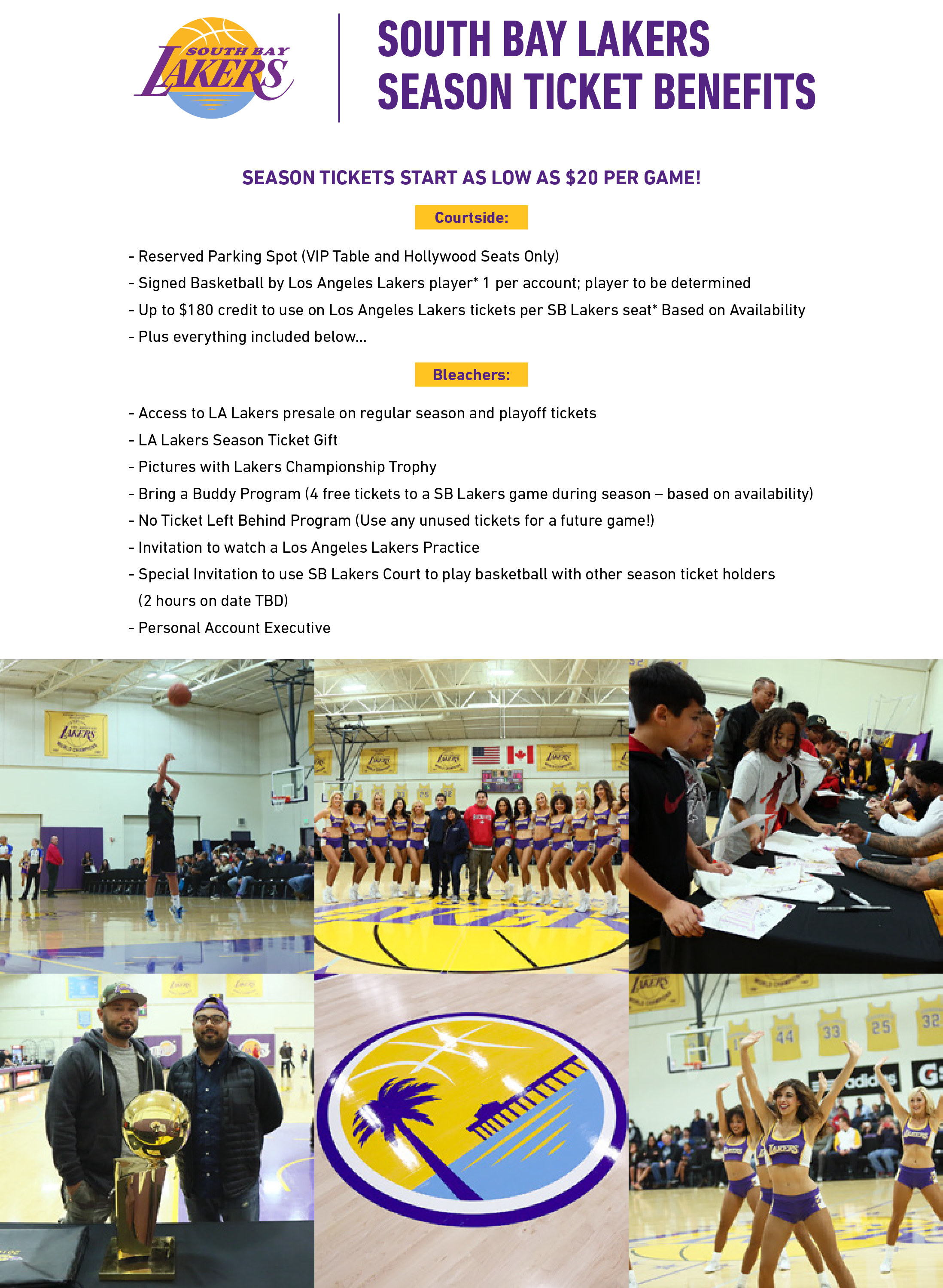 South Bay Lakers Season Ticket Member Benefits