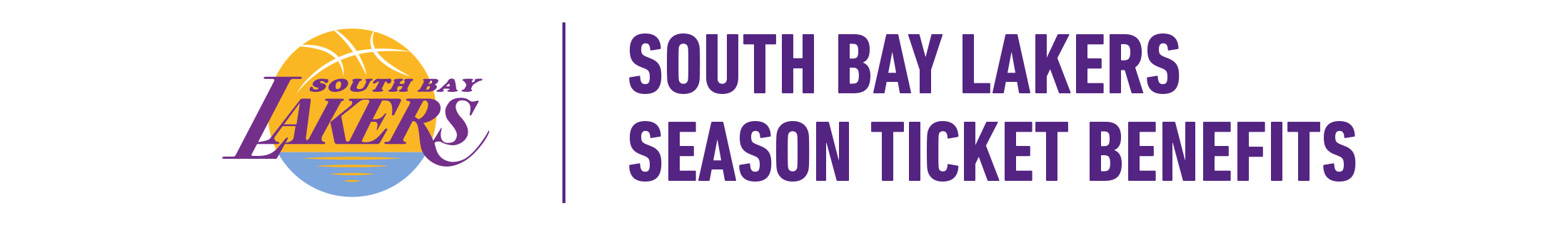 South Bay Lakers Season Ticket Member Header